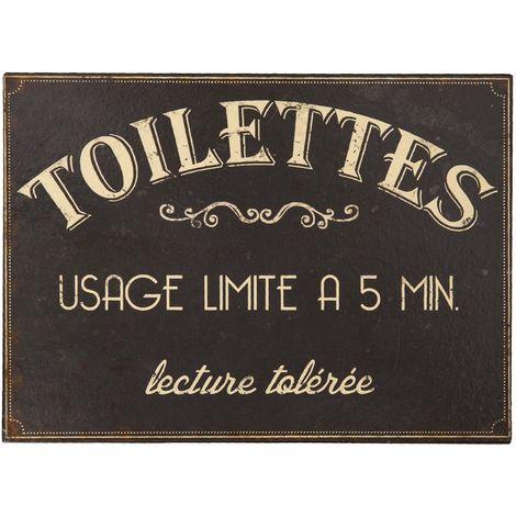 Plaque Toilettes usage limité à 5 mn