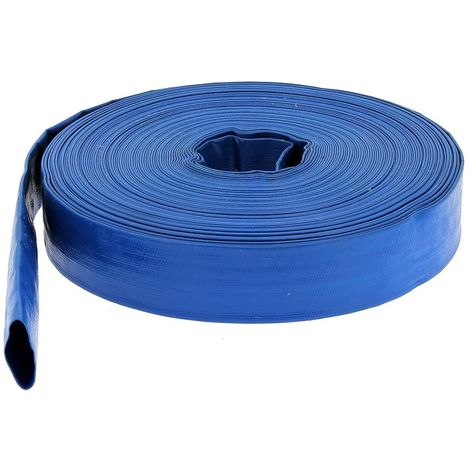Tuyau de refoulement plat Ø 51 mm (2'') bleu - Longueur 25 mètres