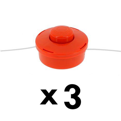 Lot de 3 têtes fils pour débroussailleuse et multifonction 4 en 1