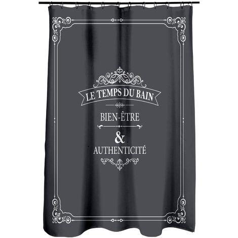 rideau de douche polyester 180*h200cm vintage