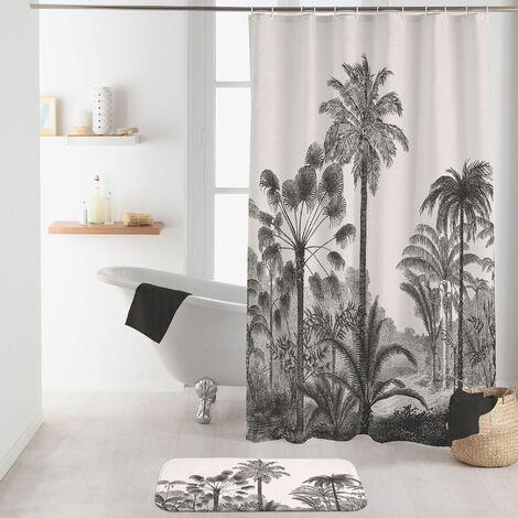 rideau de douche avec crochets 180 x 200 cm polyester imprimé Cocoty