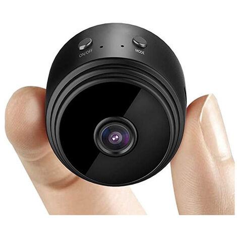 Mini Camera Espion, Mini Camera de Surveillance Full HD 1080P Camera Espion sans Fil avec Vision Nocturne et Détection de Mouvement Caméra Cachée Espion avec Une Carte pour Intérieur Extérieur