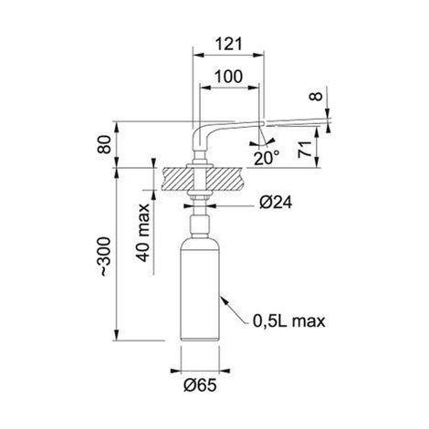 Franke sinos réservoir de 500 ml en acier inoxydable à surface 119.0261.514