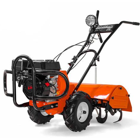 Motocultor de gasolina 6,5Hp ancho de trabajo 70cm potente y manejable Certificado CE con botón de alimentación eléctrica ON/OFF