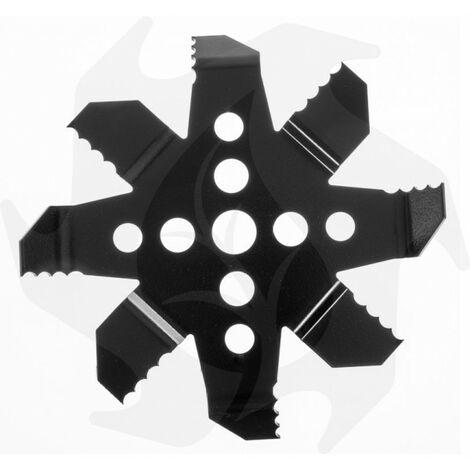 Bazargiusto - Testina disco lama coltello per decespugliatore macinone dentato nuovo modello per rovi canne sterpaglie