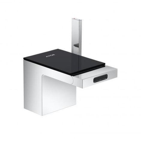 AXOR MyEdition- Single lever bidet mixer with pop-up waste set chrome/black (47210600)