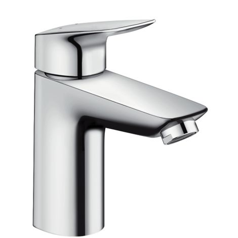Hansgrohe Logis Single lever basin mixer 100 with push-open waste set (71107000)