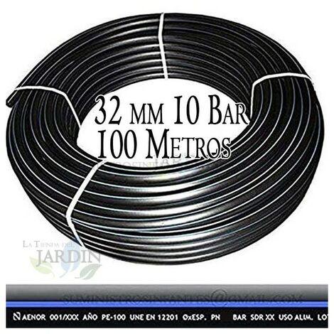 Tuyau en polyéthylène alimentaire 32mm 10 bar 100m PE100 haute densité