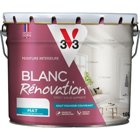 Peinture intérieure Blanc rénovation® Blanc satin 10 L V33 - Blanc