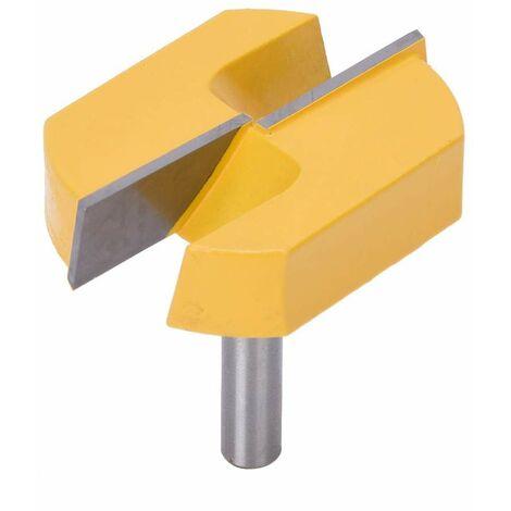SOEKAVIA Fraise de Queue de 8mm, Fraise de Rabotage de Surface de Fond de Rabotage de Nettoyage de 8x57mm en Bas