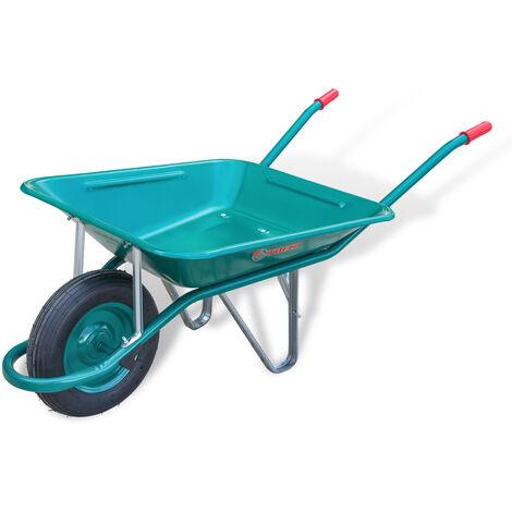 Carretilla de obra o jardin 200 litros desmontada con rueda neumática