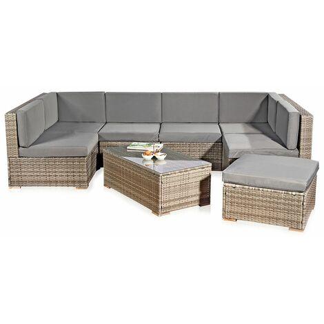 Conjunto de asientos de jardín Terraza muebles de salón de ratán conjunto de muebles de ratán conjunto de jardín terraza set de sillones