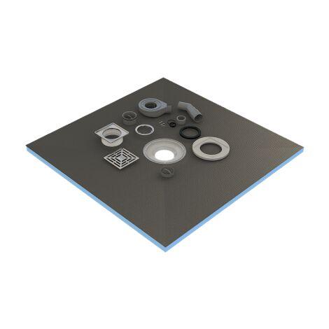 ricevitore di 120x120x4cm pronti a piastrelle doccia + sifone + griglia inox