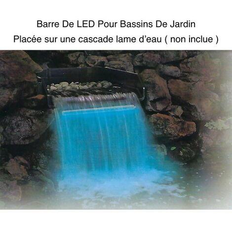 Barre Éclairage LED 30 cm Pour Bassins Et Cascades De Jardin. Éclairage Étanche