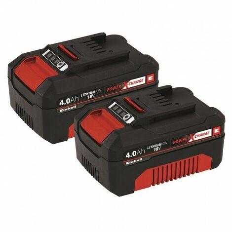 Einhell 4511489 18V DUO Power-X-Change Litio-ion Baterías 4.0Ah (duopack)