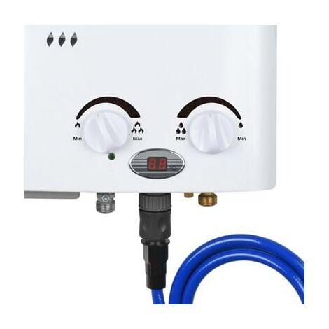 Qlima PGWH 1010 Calentador de agua a gas portátil 2-in-1