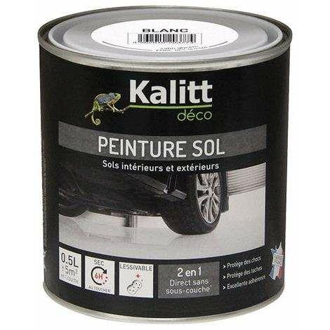 Pintura especial para el suelo satinada blanca 0.5L - KALITT
