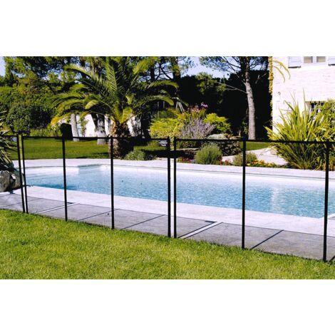 Barrera de seguridad para piscinas enterradas NORA Negra, módulo de 3 metros