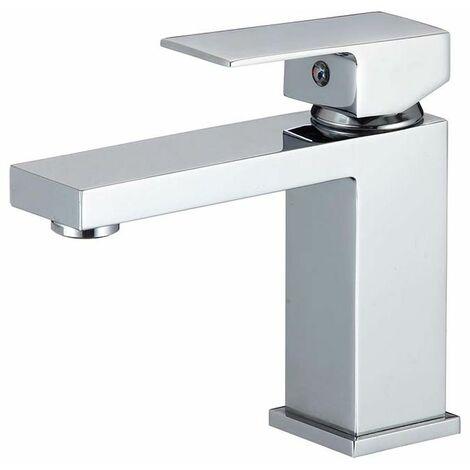 Grifo de lavabo monomando cuadrado cromo serie Segura - VALAZ