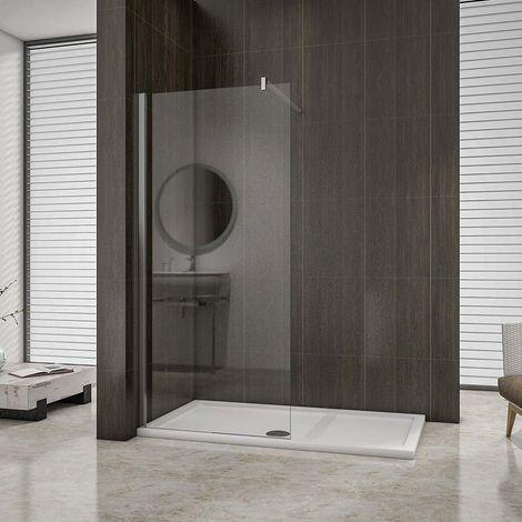 AICA paroi de douche en 8mm verre anticalcaire hauteur:200cm douche italienne