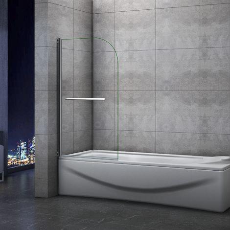 page-baignoire 70x130cm pivotant à 180 degrés en verre securit