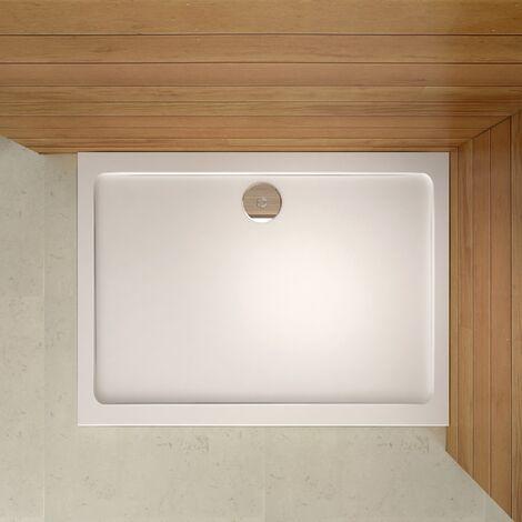 Receveur de douche 80x100cm sanitaire estra plat rectangulaire bac à douche