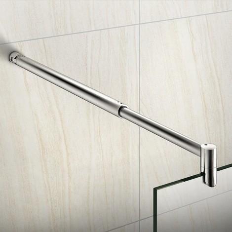 Barre de fixation extensible 700-1200mm barre de stabilisation en cylindrique la pince tourné à 360degréspour toutes les parois de douches