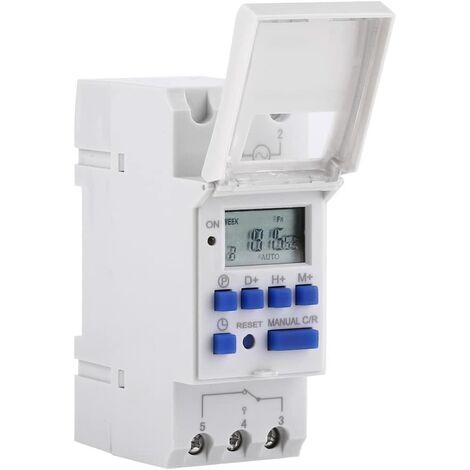 LCD Minuterie Programmateur horaire électrique hebdomadaire Numérique Timer Interrupteur 15A(220V)