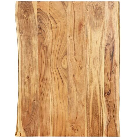 Table Top Solid Acacia Wood 80x60x2.5 cm - Brown