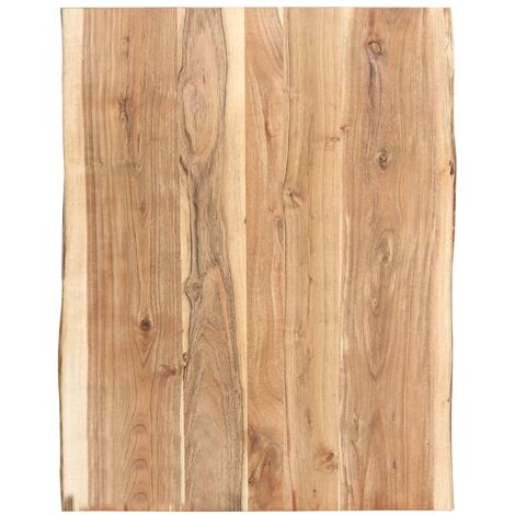 Table Top Solid Acacia Wood 80x60x3.8 cm - Brown