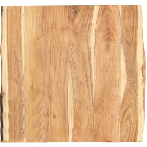 Table Top Solid Acacia Wood 60x60x3.8 cm - Brown