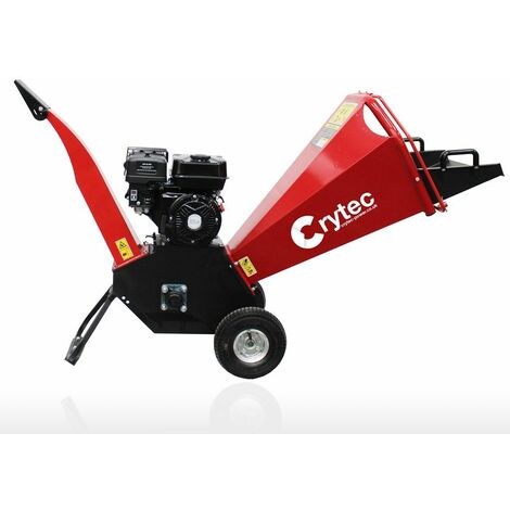 Crytec Jet 6.5hp Petrol Wood Chipper Shredder Mulcher
