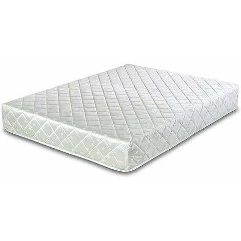 Deluxe Memory Foam Coil Spring Rolled Mattress - 4FT6 Double