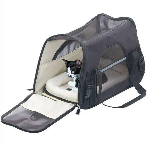Peut transporter un sac de transport pour animaux de compagnie de 8 kg, sac de transport pour chat ,noir