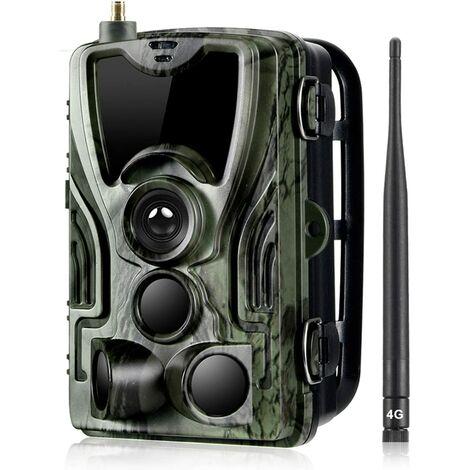 """Caméra de chasse 3G 16 MP 1080p Détecteur de mouvement Vision nocturne infrarouge avec écran LCD 2,0"""" IP65 étanche pour à domicile et la sécurité extérieure"""