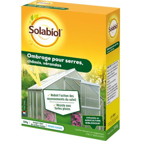 SOLABIOL SOS500 Ombrage pour Serres | Châssis et Vérandas 500G | Réduit l'intensité Lumineuse de 60% | Jusqu'à 20 m² de Surfaces traitée |