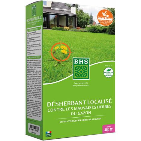 BHS DG900 Desherbant Gazon Total| 900 ML | Soit 2000 m² | Formulation concentrée Action Express | Fabriqué en France
