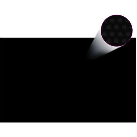 Cubierta de piscina rectangular PE negro 800x500 cm - Negro