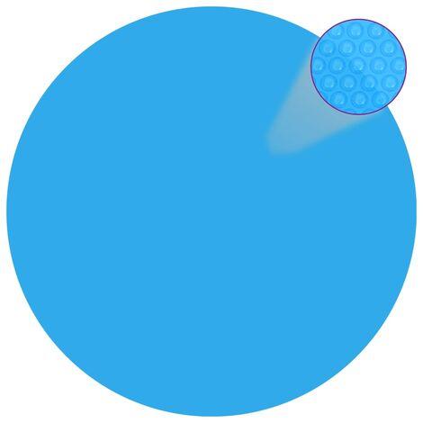 Cubierta solar de piscina de PE redonda y flotante 381 cm azul - Azul