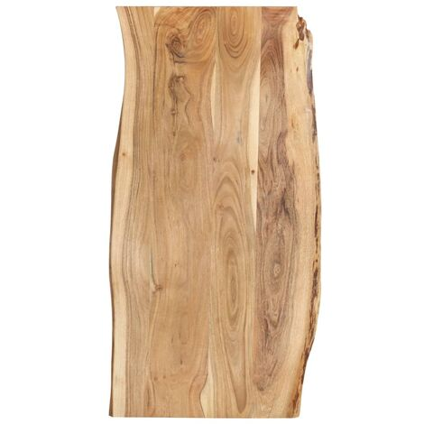 Superficie de mesa de madera maciza de acacia 120x60x2,5 cm - Marrón