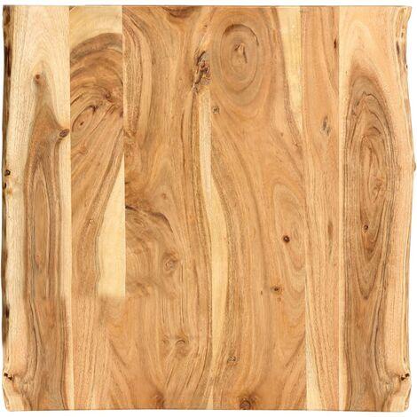 Superficie de mesa de madera maciza de acacia 60x60x2,5 cm - Marrón