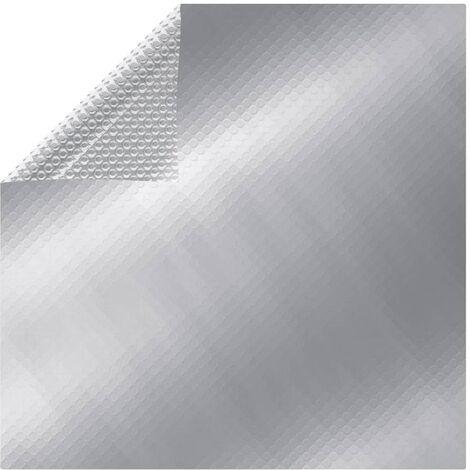 Cubierta de piscina PE plateado 300x200 cm - Plateado