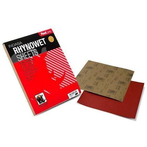 Foglio di carta vetrata impermeabile Rhynowet Red Line Indasa