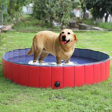 femor Kinder Schwimmbecken für Hunde, Katzen, Bad für Hunde, Piegevoles Schwimmbecken aus PVC, rutschfest, strapazierfähig, für Kinder Geschenk