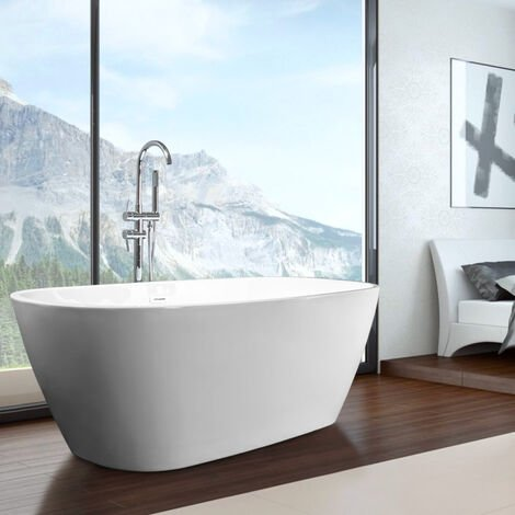 Vasca da Bagno Freestanding Ovale Indipendente Design Moderno IDRA