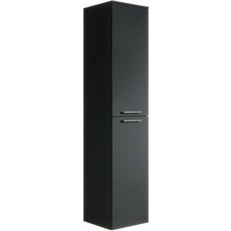 Armoire de rangement de Saturnus Hauteur : 130 cm Noir - Meuble de rangement haut placard armoire colonne - Noir
