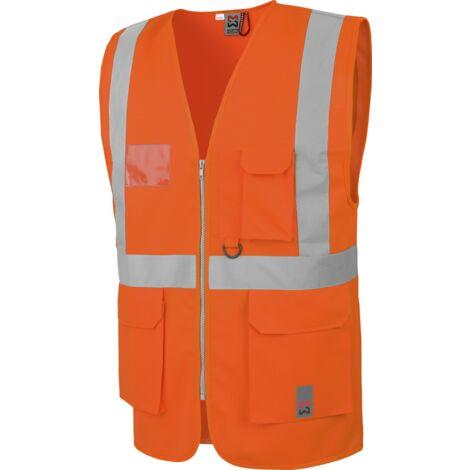 Gilet de travail haute visibilité multipoches EN20471 Würth MODYF orange