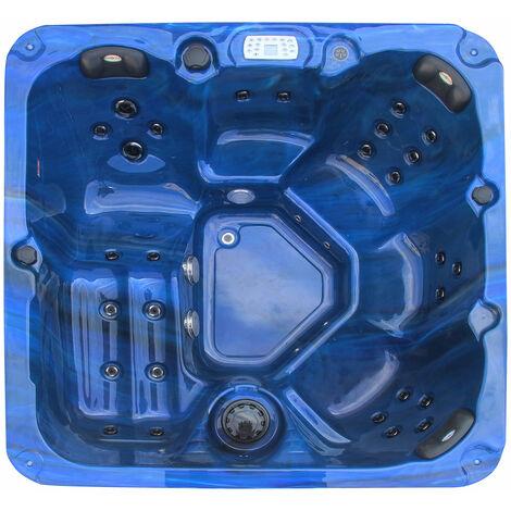 Outdoorwhirlpool Palma Blau inkl. Abdeckung und Stiege - 190 x 190 x 86cm