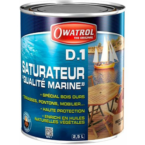 Saturateur pour bois, Owatrol Deks Olje D1, 1 L, Miel - Jaune