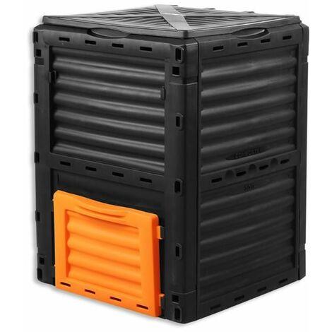 Compostiera FUXTEC 300L contenitore per compostaggio da giardino composter 82x61x6